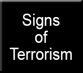 Signs of Terrorism